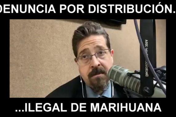 Denuncia por distribución ilegal de marihuana