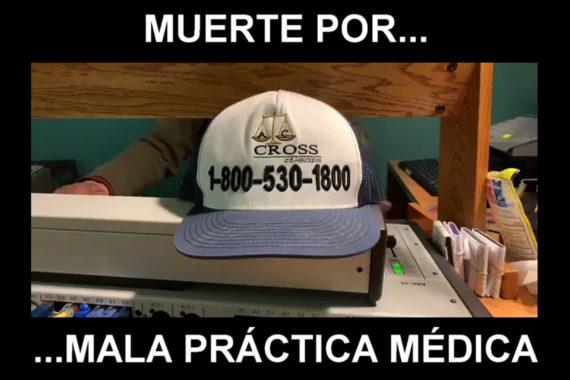 Muerte por mala práctica médica